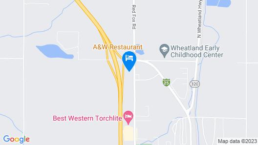 Super 8 by Wyndham Wheatland Wyoming Map