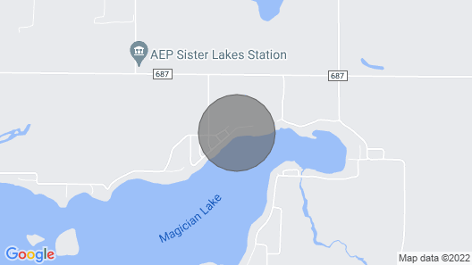 Beautiful Lake Front Home on Magician Lake Map