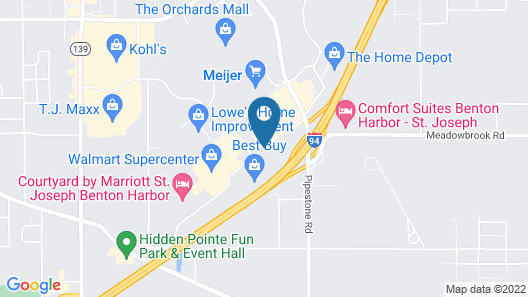 Best Western Benton Harbor-St. Joseph Map