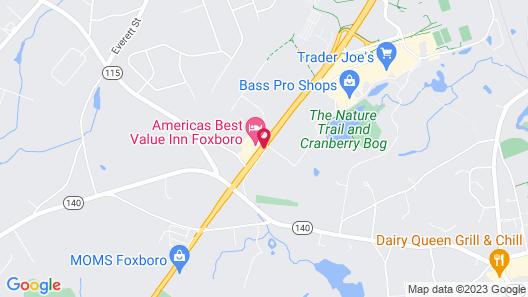 Americas Best Value Inn Foxboro Map