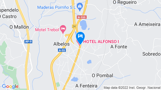 Hotel Alfonso I Map