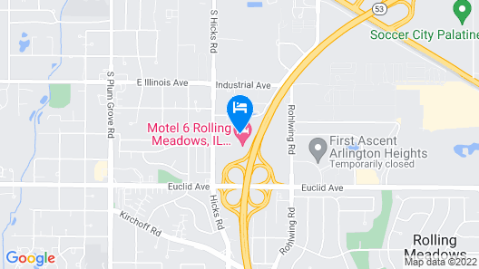 Motel 6 Rolling Meadows, IL - Chicago Northwest Map