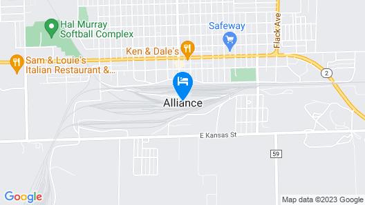 Holiday Inn Express Alliance Map