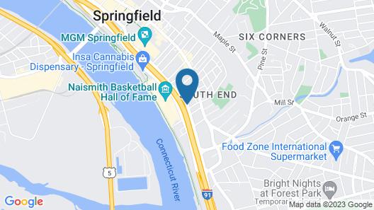 Hampton Inn & Suites Springfield / Downtown Map