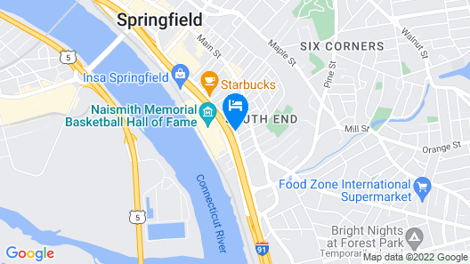 Hampton Inn & Suites Springfield / Downtown Map