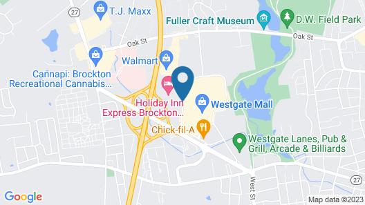 Holiday Inn Express Brockton - Boston, an IHG Hotel Map