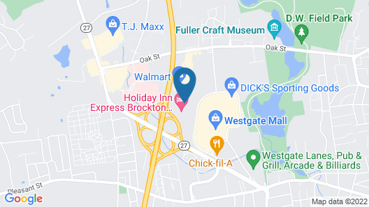 Motel 6 Brockton, MA Map