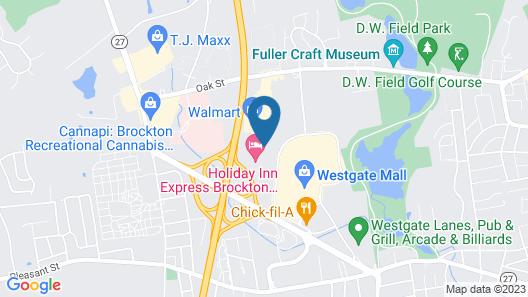 Super 8 by Wyndham Brockton Map