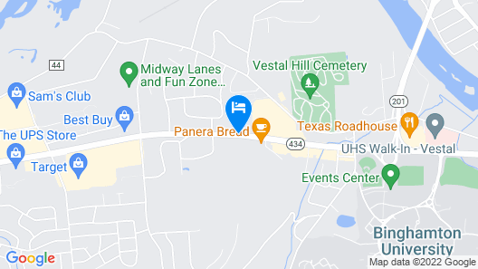 Holiday Inn Express Hotel & Suites Vestal Map