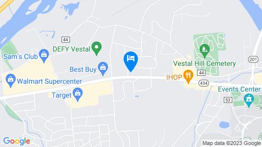 Comfort Suites Vestal near University Map