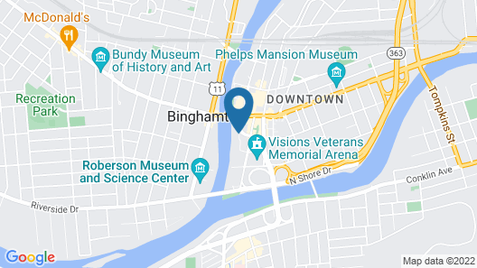 Holiday Inn Binghamton - Downtown (Hawley St.), an IHG Hotel Map