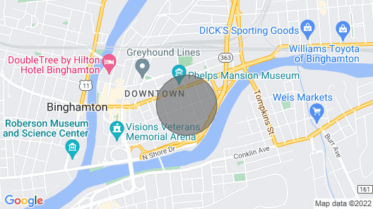 Downtown Binghamton Loft Style Living Map