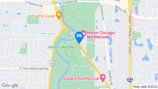 Crowne Plaza Chicago-Northbrook Map