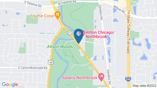 Crowne Plaza Chicago-Northbrook, an IHG Hotel Map
