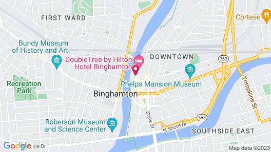 DoubleTree by Hilton Hotel Binghamton Map