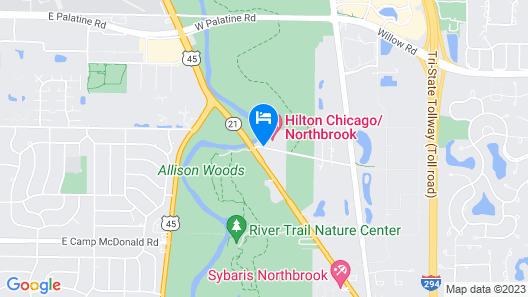 Hilton Chicago / Northbrook Map