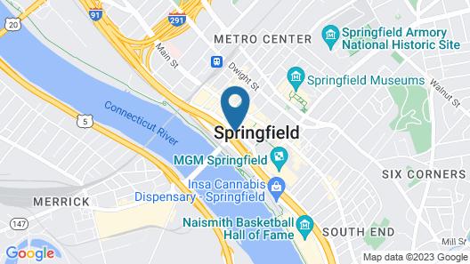 Sheraton Springfield Monarch Place Hotel Map