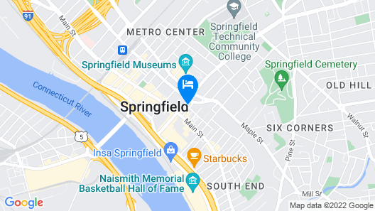 Holiday Inn Express Springfield Downtown Map