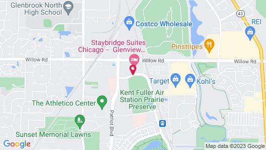 Staybridge Suites Chicago - Glenview Map