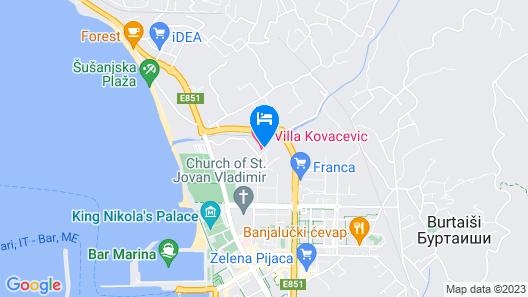 Villa Kovacevic Map