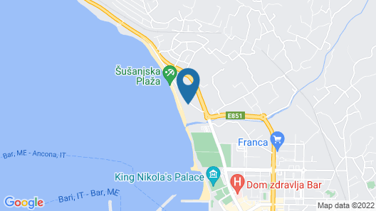 Apartments Kuce Lekovica Beach & Restaurant Map