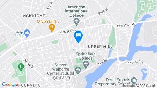 An Evolving Oasis in the the Upper Hill Area, With Access to Points of Interest Map