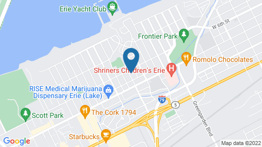 Cozy Convenient Lake Erie Home Map