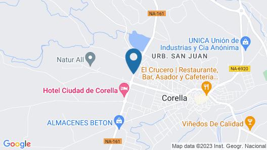 Hotel Ciudad de Corella Map