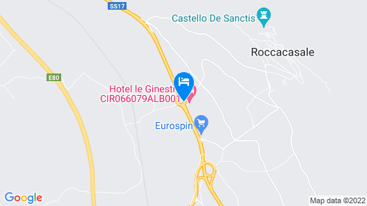 Hotel Le Ginestre Map