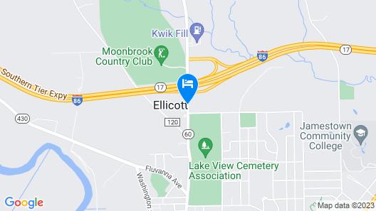 Comfort Inn Jamestown - Falconer Map
