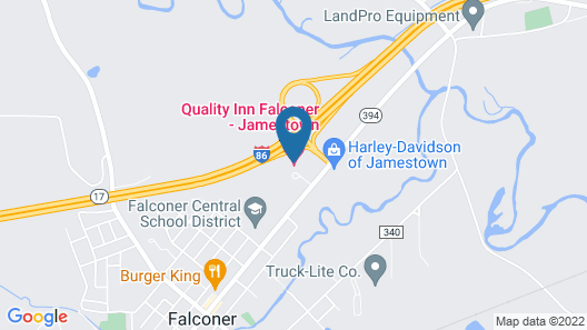 Quality Inn Falconer - Jamestown Map