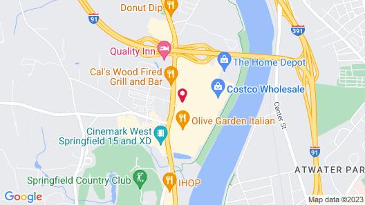Hampton Inn West Springfield Map