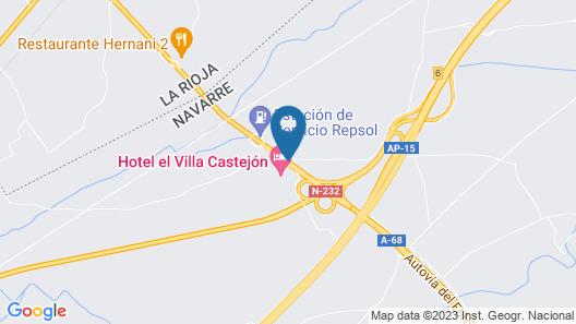 Hotel Elvilla Castejon Map