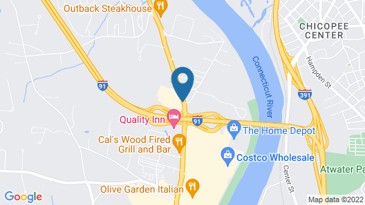 Quality Inn West Springfield Map
