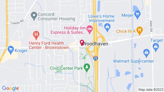 Best Western Woodhaven Inn Map