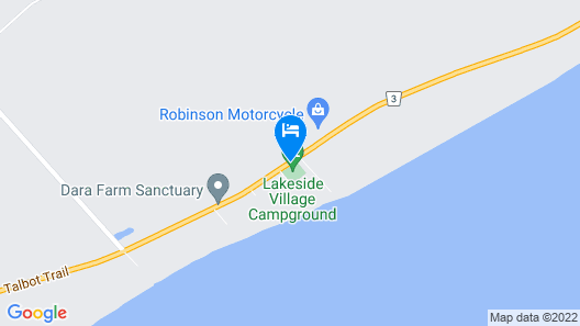 Lakeside Village Motel and Campground Map