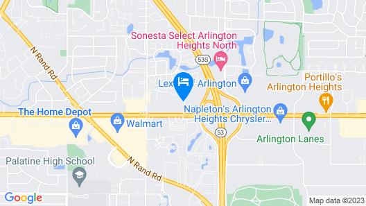 Motel 6 Palatine, IL - Chicago Northwest Map