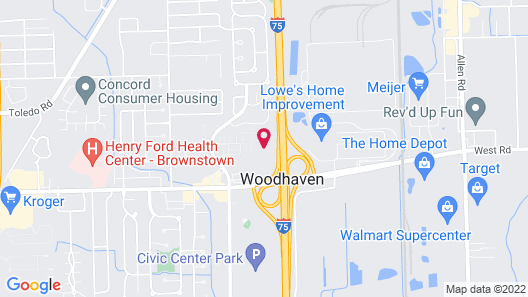 Holiday Inn Express Hotel & Suites Woodhaven, an IHG Hotel Map