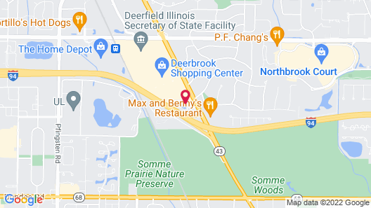 Red Roof Inn Chicago - Northbrook/Deerfield Map