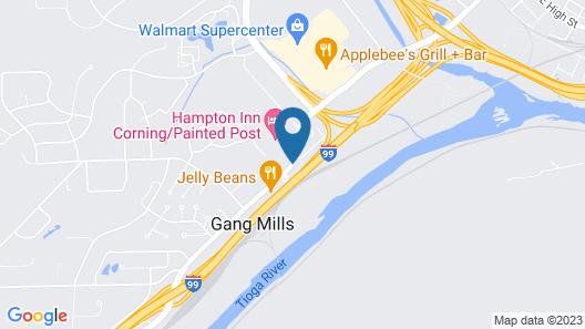 Hampton Inn Corning/Painted Post Map