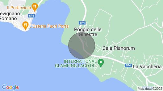 Monic 83 - Relax 150m From Bracciano Lake Map