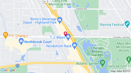 Courtyard by Marriott Chicago Highland Park/Northbrook Map