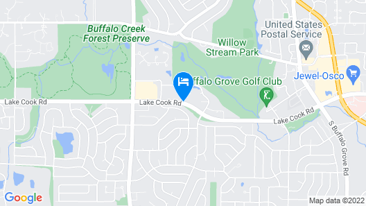 Four Points by Sheraton Buffalo Grove Map