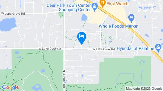 Hampton Inn & Suites Chicago Deer Park Map
