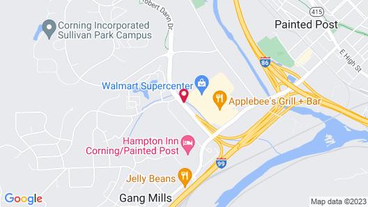 Econo Lodge Painted Post - Corning Map