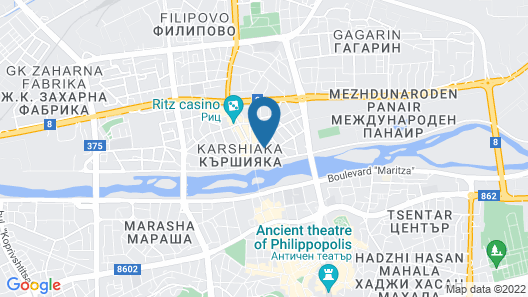 Grand Hotel Plovdiv Map