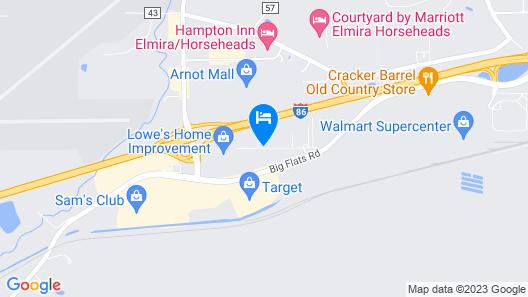 Relax Inn Elmira Map