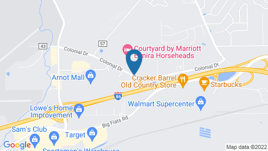 Candlewood Suites Elmira Horseheads Map