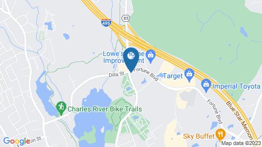 Fairfield Inn & Suites Boston Milford Map