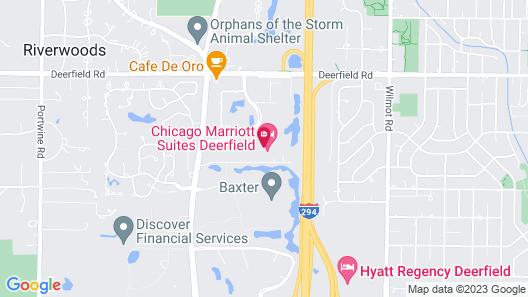 Chicago Marriott Suites Deerfield Map
